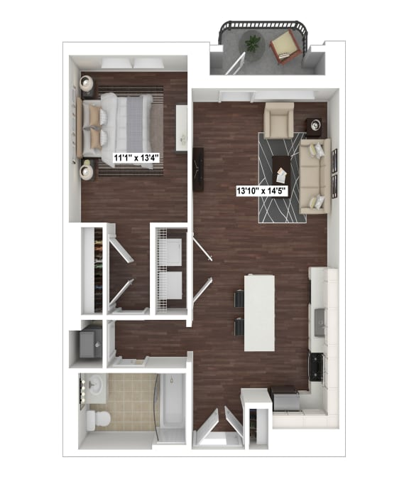 Floor Plan  A4(4) floor plan at The Woodley, 2700 Woodley Road, NW, Washington, DC