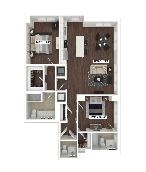 Floor Plan  B4(5) floor plan at The Woodley, 2700 Woodley Road, NW, Washington, DC