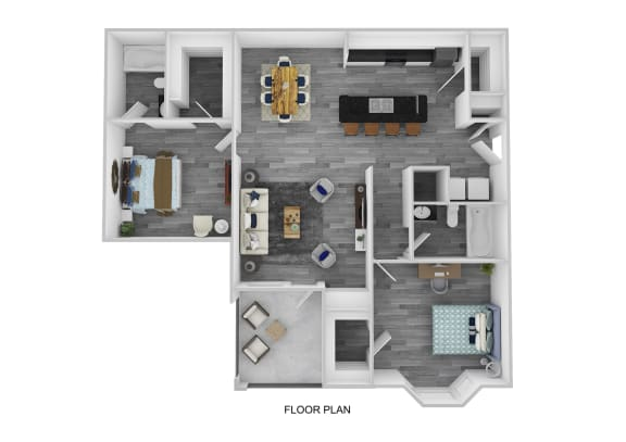 The Bristol Floor Plan at Lakeside at Town Center, Marietta, GA, 30066