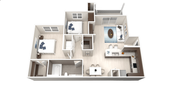A4 Floor Plan at Ethos Apartments, Texas, 78744