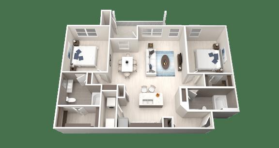 Floor Plan  B6 Floor Plan at Ethos Apartments, Texas