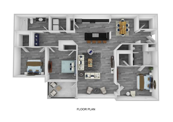The Oxford Floor Plan  at Lakeside at Town Center, Marietta, GA