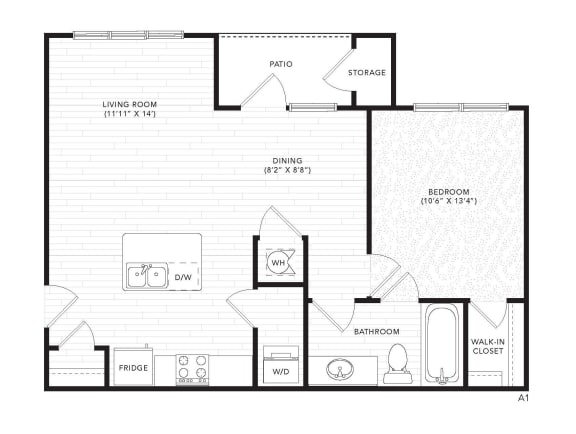 Floor Plan  A1 Floor Plan at The Darby, Holly Springs