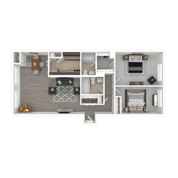 Metro 710 Apartments 2x2 Bedroom