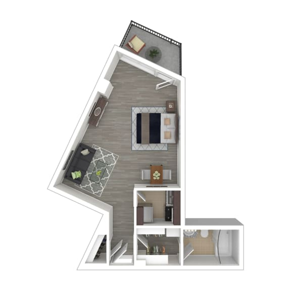 Metro 710 Apartments Studio