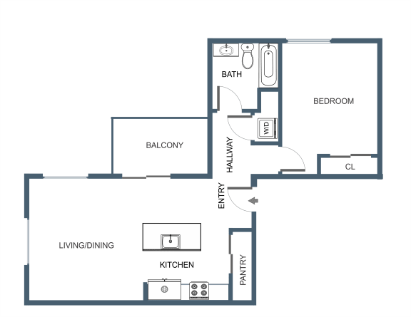 A6 Floor Plan at Latitude at South Portland, Portland, ME