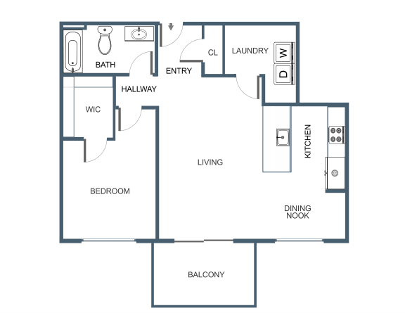 A7 Floor Plan at Latitude at South Portland, Maine