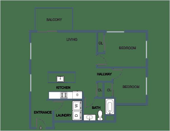 C14 Floor Plan at Latitude at South Portland, Portland, 04106