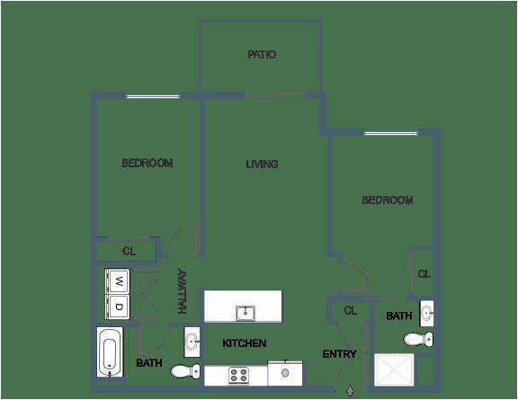 C7 Floor Plan at Latitude at South Portland, Maine