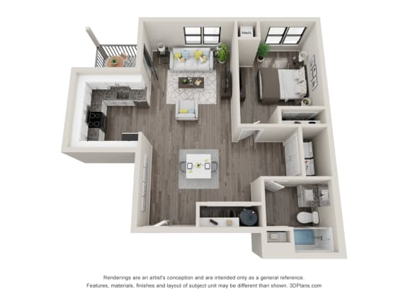 A8 Floor Plan at Latitude at South Portland, Maine