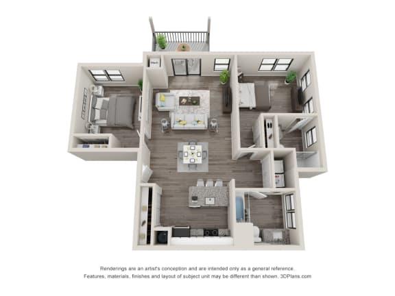 C13 Floor Plan at Latitude at South Portland, Portland, Maine
