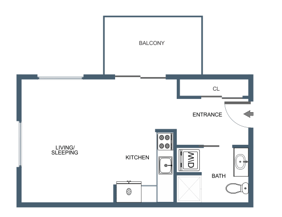 S1 Floor Plan at Latitude at South Portland, Portland, ME, 04106