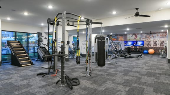 Two State-Of-The-Art Fitness Facility With Yoga And Strength Training at Santos Flats Apartment Homes, Florida, 33619