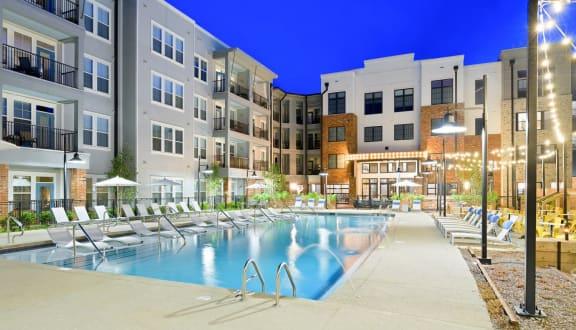 Swimming area at The Jamestown Apartment Flats, Virginia