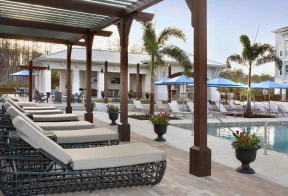 Poolside Cabanas and Game Lawn at Summerhouse Lakewood Ranch Apartments, Florida, 34211