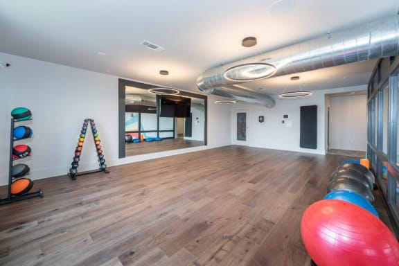 cross training center with Fitness on Demand at Livingston Apartment Flats, Chesterfield