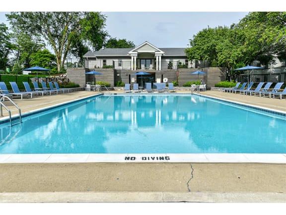 Crystal Clear Swimming Pool at The Villas at Northstar, Ann Arbor, MI