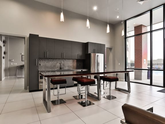 Living room space at Residences at The Streets of St. Charles, St. Charles, MO