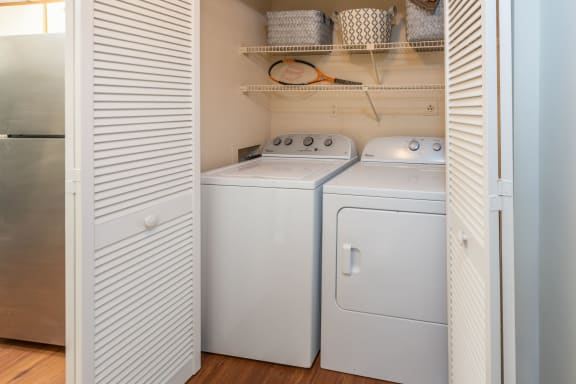Apartments with washer/dryer connections - image reflecting a washer/dryer set up in unit