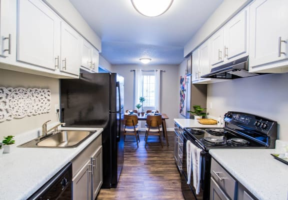 Modular Kitchen at 2900 Lux Apartment Homes, Las Vegas, NV, 89102