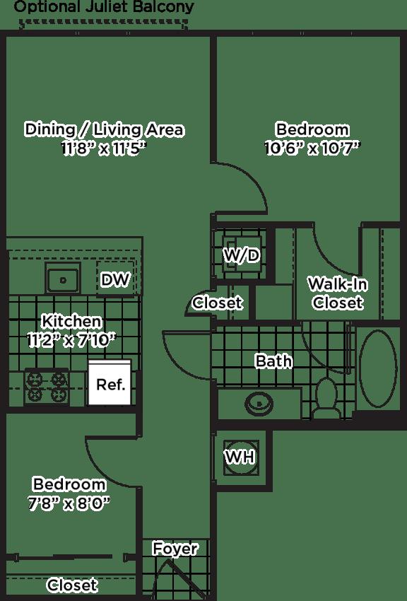 Floor Plan  Floor plan layout of an apartment