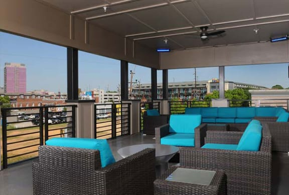 Covered Rooftop Lounge with Seating Park & Kingston, Charlotte, NC 28203