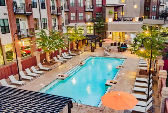 Pool with Sundeck at Park & Kingston, Charlotte NC 28203