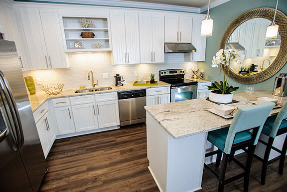 Gourmet Kitchen With Island at The Reserve at Mayfaire, Wilmington, 28405