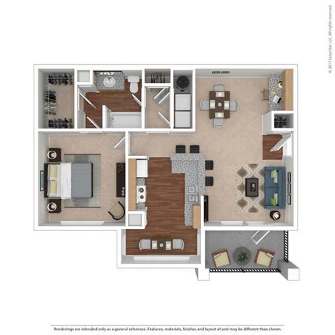 A2 Floor Plan at Huntington Ridge   Apartments,CLEAR Property Management, DeSoto, TX, 75115