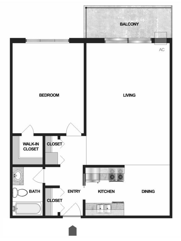 Floor Plan  Floor plan Villages on McKnight Apartments