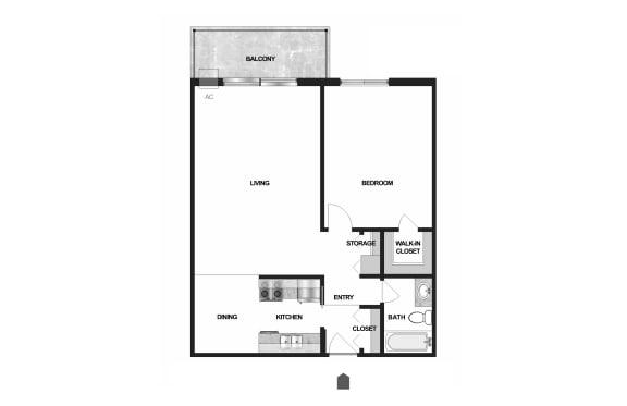 Floor Plan  Villages on McKnight Apartments in North St. Paul 1 Bedroom 1 Bath