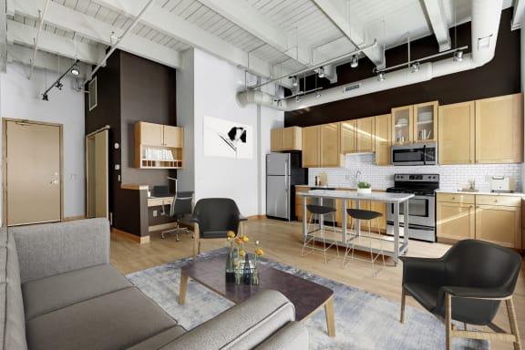 Lowertown Lofts Open Living Space