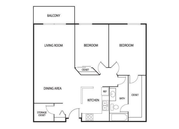 Valley Pond Apartments in Apple Valley, MN 2 Bedroom 2 Bath