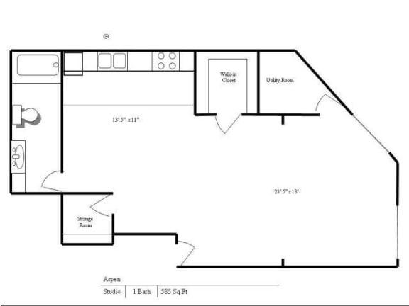 Floor Plan  Cedars Lakeside Apartments in Little Canada, MN Studio Apartment