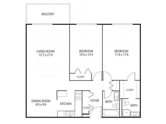 Medicine Lake Apartments in Plymouth, MN 2 Bedroom 2 Bathroom