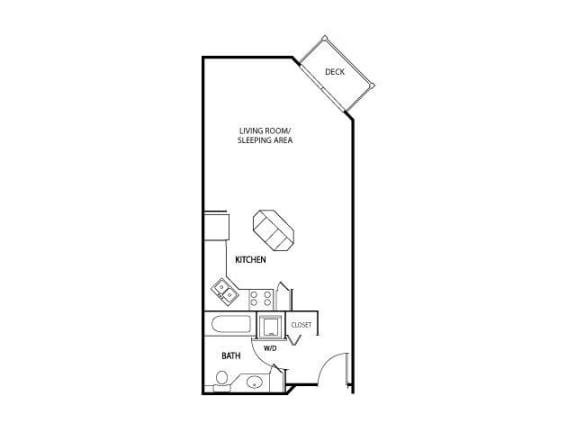 Floor Plan  The Gables at Park Pointe Apartments in St. Louis Park, MN Studio