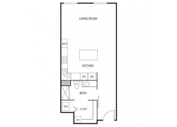 Floor Plan  Lowertown Lofts in St. Paul, MN Studio Apartment