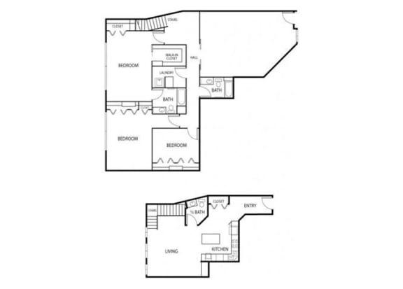 Lowertown Lofts in St. Paul, MN 3 Bedroom 2.5 Bath Plus Den Apartment