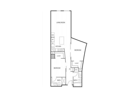 Lowertown Lofts in St. Paul, MN 2 Bedroom 2 Bath Apartment
