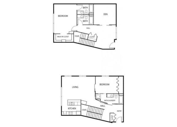Lowertown Lofts in St. Paul, MN 2 Bedroom 3 Bath Plus Den Apartment