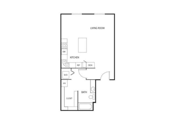 Lowertown Lofts in St. Paul, MN Studio Apartment
