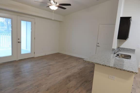 Wood Floor Living Room at Shenandoah Properties, Indiana