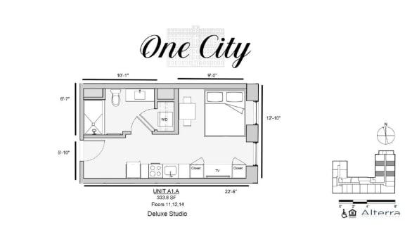 One City A1A Floor Plan