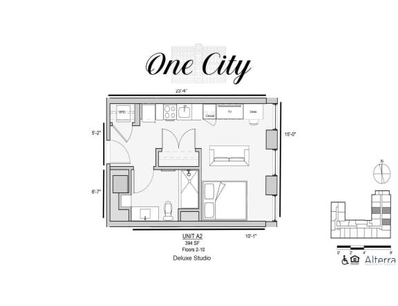 One City A2 Floor Plan