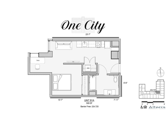 One City B1A HC Accessible