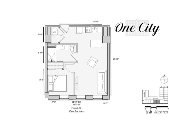 One City C1 Floor Plan