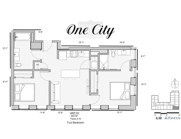 One City D1 Floor Plan