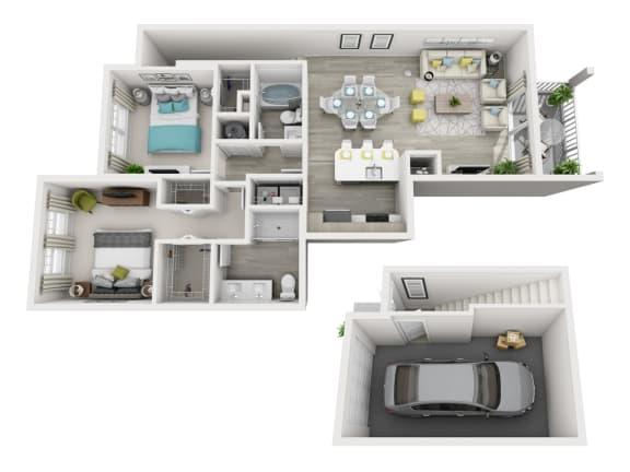 1 Bedroom 1 Bath with Garage
