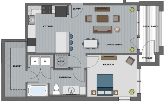 Franklin Floor Plan at The Edison at Riverwood, Hermitage, TN, 37076