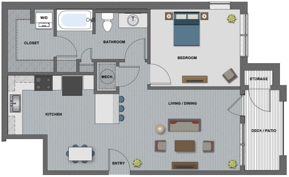 Gates Floor Plan at The Edison at Riverwood, Tennessee, 37076